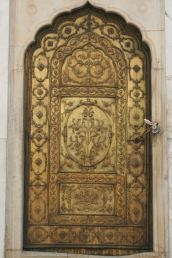 Beautiful door to the Moti Masjid (Pearl Mosque), Red Fort